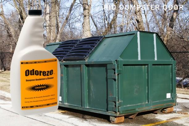ODOREZE Natural Dumpster & Chute Odor Eliminator: Makes 64 Gallons to Clean Trash Stink