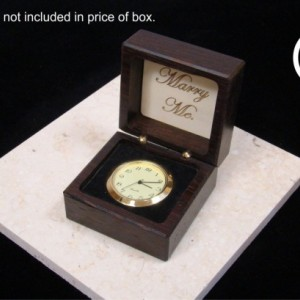 Inlaid Engagement Ring Box of Solid Wenge with Free Shipping and Engraving.  RB 76