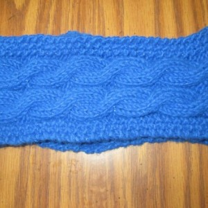 Hand Knit Headband/ Earmuff- Royal