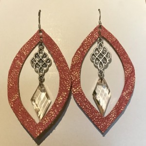 unique and elegant leather earrings