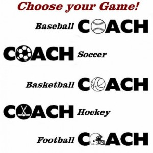A Coach Gift, Coaching key ring. A personalized and hand painted gift for a coach. Soccer, Football, Hockey, Baseball and Basketball