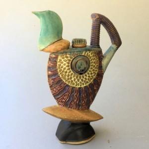 Tea Pot Pottery Hand Made Sculptural Tea Pot Helene Fielder