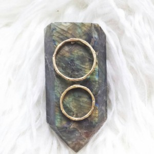 Custom Zen Bamboo Ring Set