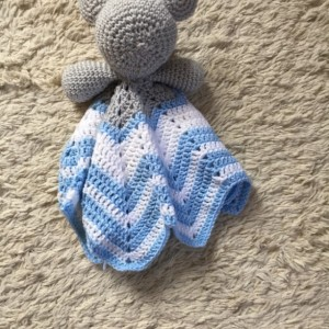 Elephant Lovey Baby Blanket, Comfort Blanket,  Security Blanket, Baby Shower Gift
