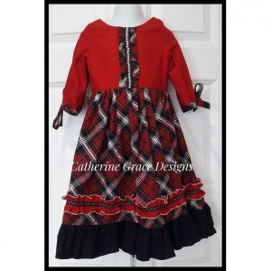 Girl's Christmas dress, girls plaid dress, christmas outfit, holiday dress, girls dress, red girl dress, holiday party dress, winter dress