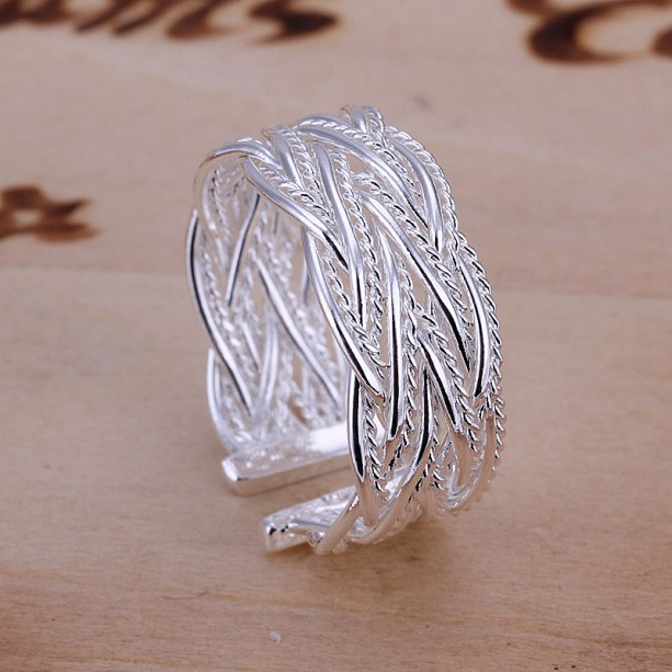 silver plated ring fashion jewelry,Small reticulocyte ring