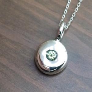 Sapphire Charm Necklaces. Natural Sapphire Pendant.