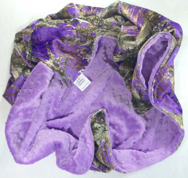 Baby Blanket Purple True Timber Purple Camo Blanket