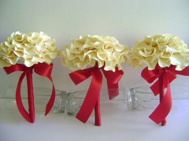 Wedding Single Flower Glamelia Bouquet Rose Bridal Bridesmaids ...