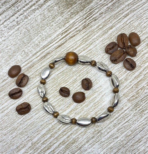 Coffee bean bracelet
