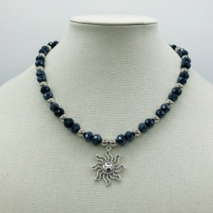 """20"""" Royal Blue and Silver Necklace"""