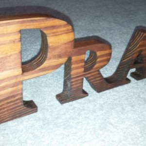 Pray, Inspirational words, Cut wooden name.