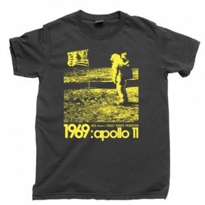 Stanley Kubrick Apollo 11 Men's T Shirt, 1969 Fake Moon Landing Hoax Conspiracy Unisex Cotton Tee Shirt