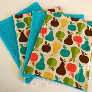 Unpaper Towels Pears and Apples, Cleaning Cloths, Reusable Towels, Paperless Paper Towels, Kitchen Towels, Cloth Napkins, Cleaning Supplies