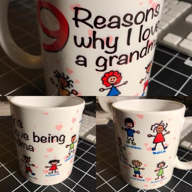Custom Made Reason why i love being a Grandma 11oz Coffee Mug