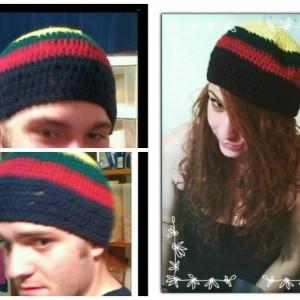 Rastafarian Crochet Beanie
