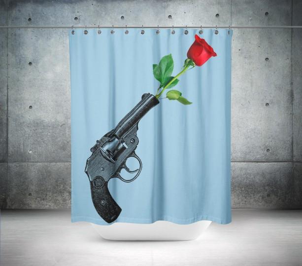 Guns N Rose Shower Curtain