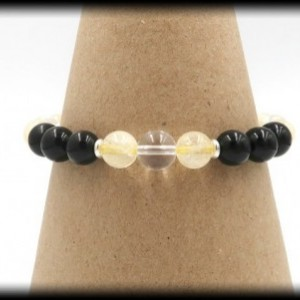 Citrine and Tourmaline Bracelet to Attract Wealth and Inspiration