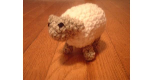 Sally the Sheep crochet amigurumi plush toy