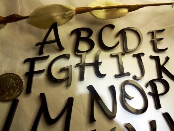 charm letters,COMPLETE Alphabet, Lucida, laser cut letters,