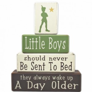 Peter pan nursery - little boys - Peter Pan - wood sign