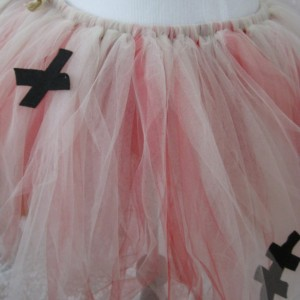 VooDoo Tutu Costume with Heart Pin Accessory