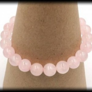 Rose Quartz Solid Gemstone Bracelet for Love and Compassion