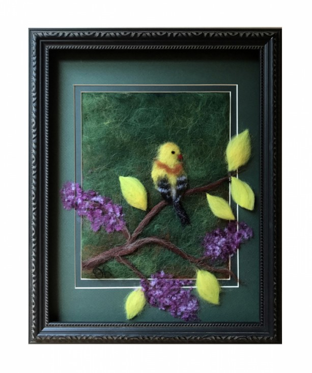 "Wool Painting ""Oriole"""