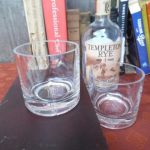 Templeton Rye Whiskey Bottle Upcycled Old Fashion Glasses, Set of  (2)