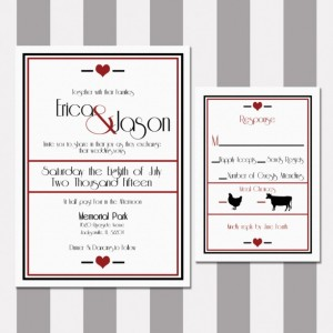 Black and Red Elegant Wedding Invitation, Printed, Custom Invitation, Letterpress, Flat Printed, Romantic and Elegant, Classic, Deposit