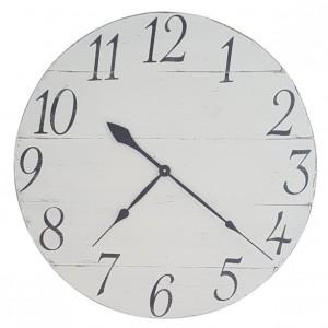 Antique White Farmhouse Clock- Number Clock- Decorative Wall Clock- Wood Clock-White Clock-Distressed Clock-Rustic Clock-Farmhouse Clock