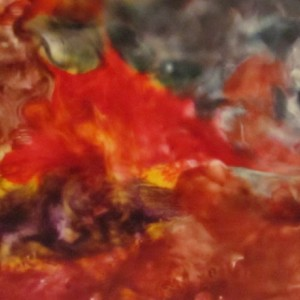 Beautiful Disaster - Abstract Encaustic Modern Wax Art Painting - Free Shipping - 12 x 12