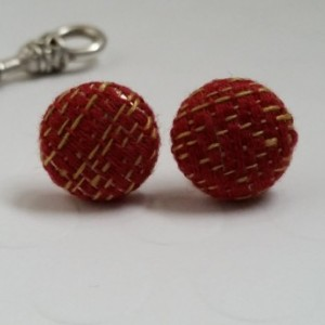 Wrap Scrap Jewelry - Earrings - Didymos Prima Ruby Mandarin
