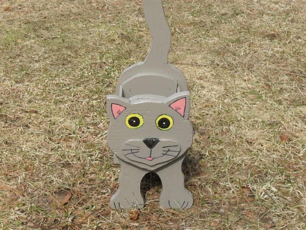 Grey Cat Planter box