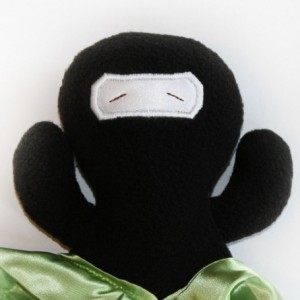 Ninja Security Blanket, Lovey Blanket, Satin, Baby Blanket, Stuffed Animal, Baby Toy - You pick Color - Monogramming Available