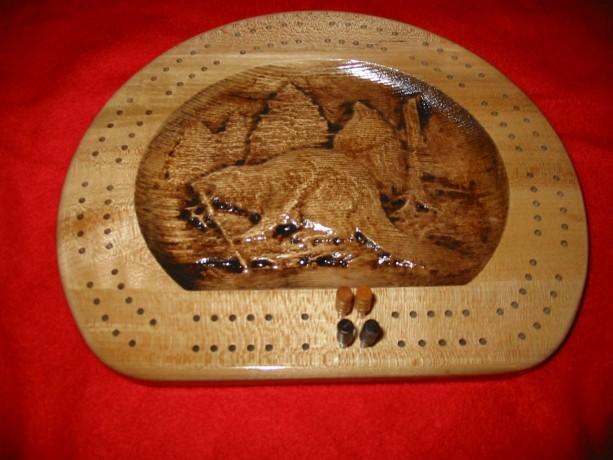 Beaver Cribbage Board