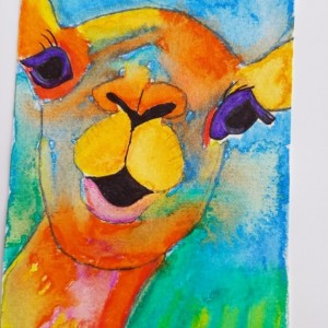 Hand-painted Camel Blank Notecards, 5-Pack