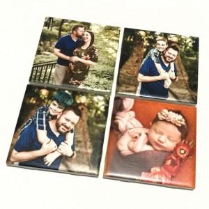Ceramic Personalized Coasters, Set of 4, Photo Coasters, Custom Coasters, Wedding Gift, Anniversary Gift, Birthday Gift, Instagram Photos