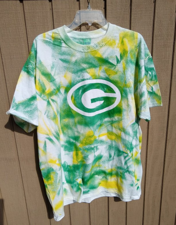 Green Bay Packer tie dye t-shirt