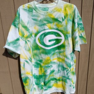 Green Bay Packer tie dye t-shirt--youth sizes