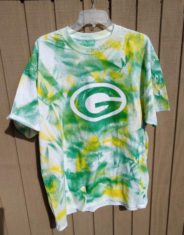 Green Bay Packer tie dye t-shirt--youth sizes