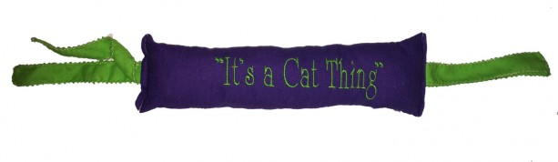"KittyKicker ""Its A Cat Thing"" 11 inches Long 100% Organic USA Catnip Cat Toy"