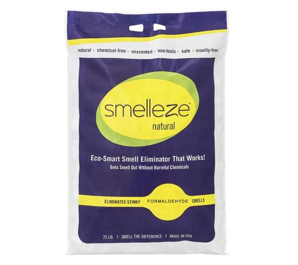 SMELLEZE Natural Formaldehyde Spill & Odor Absorbent Granules: 25 lb. Bag