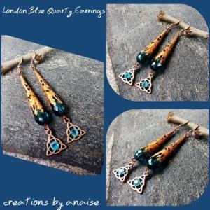 London Quartz Pendulum Earrings