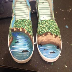 Handpainted Nature Shoes - Bears