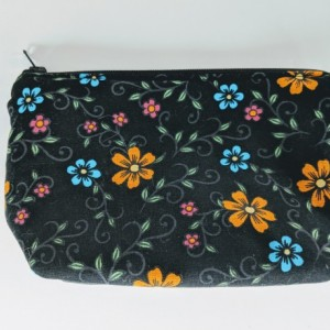 Small Matching Organizer Bag, Travel Bag, Travel Case, Zipper Bag, Flower Bag, Gift under 20