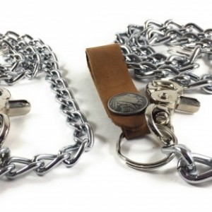 "18"" Chrome Chain 3mm or 4mm, Key FOB, Keychain, Key Chain, Wallet Chains,  Chain Wallet, Leather Wallet Chain, Made in USA"