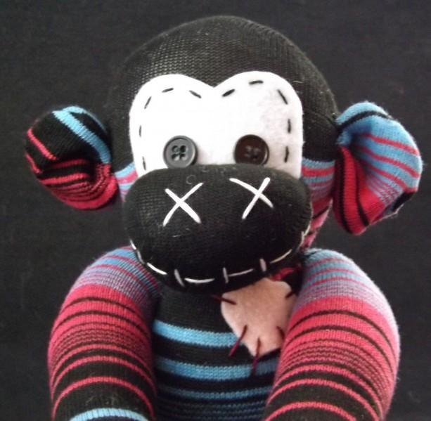 Sock monkey : Aubrey ~ The original handmade plush animal made by Chiki Monkeys