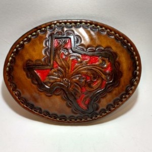 Texas trophy style belt buckle