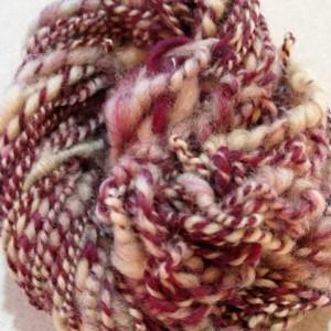 Boho Handspun yarn-hand dyed yarn-wool-art yarn-64 yds-super soft yarn-wool yarn-knitting-crochet-felting-knitting supplies